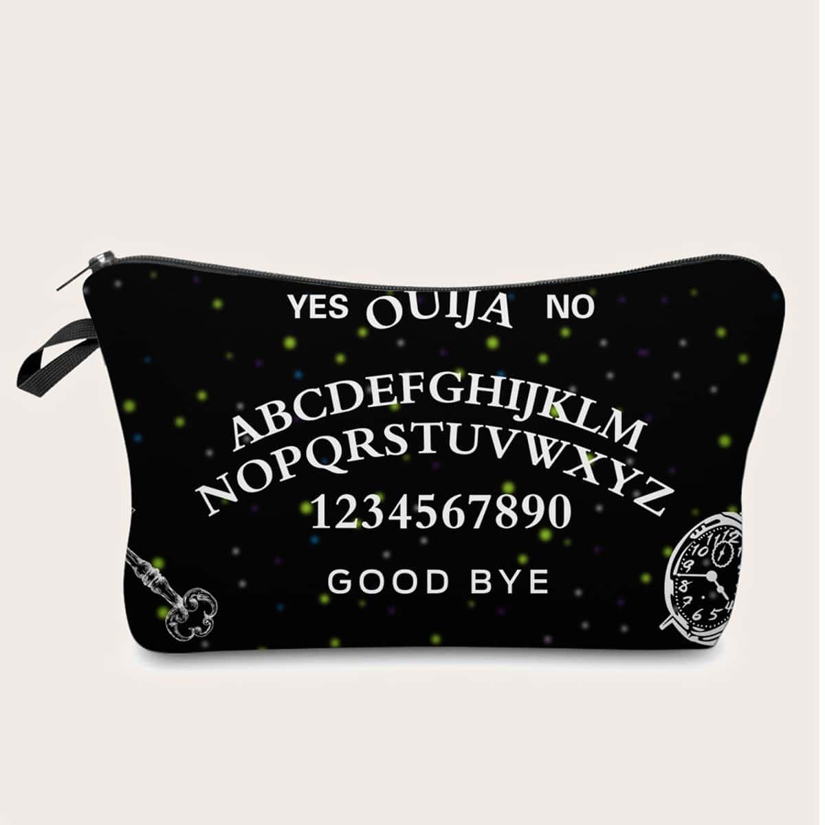 Косметическая сумка с текстовым принтом