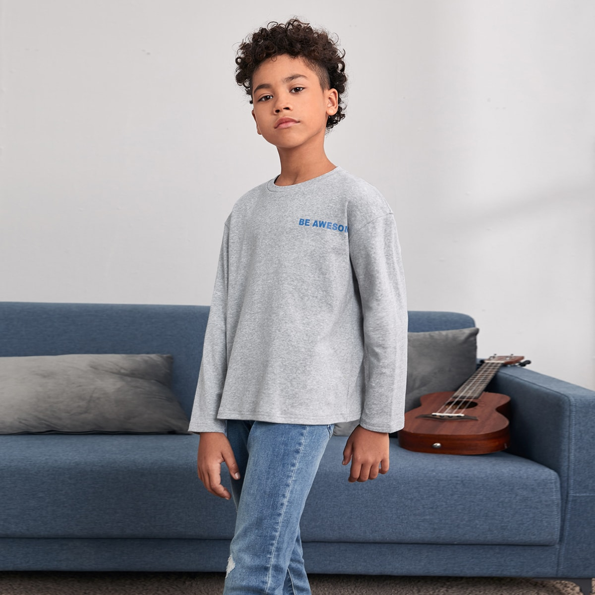 Лозунг повседневный футболки для мальчиков