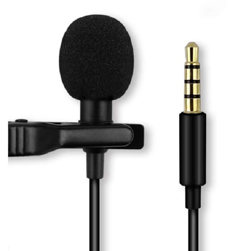 Cellphone Plug-In Lavalier Microphone - 1pc, Black