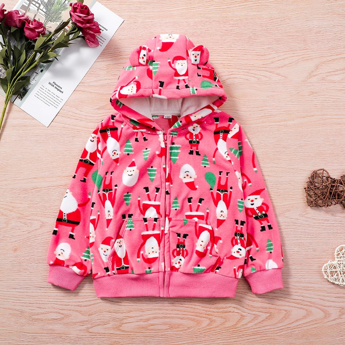 На молнии рождество милый куртки для девочек