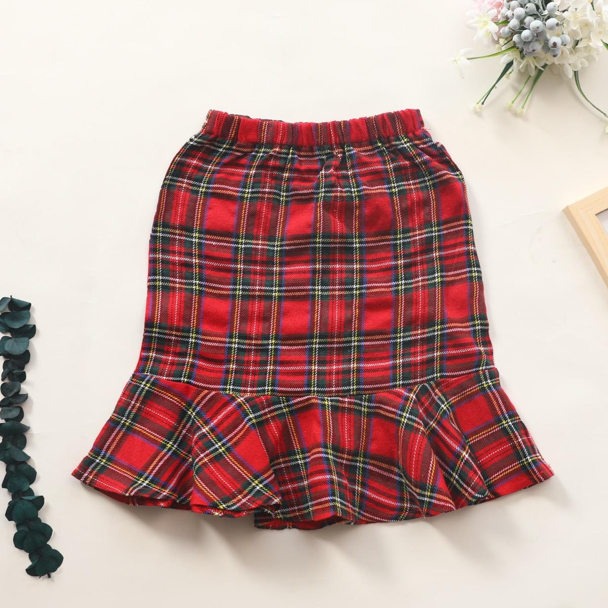 С оборками в клетку институтский юбки для девочек