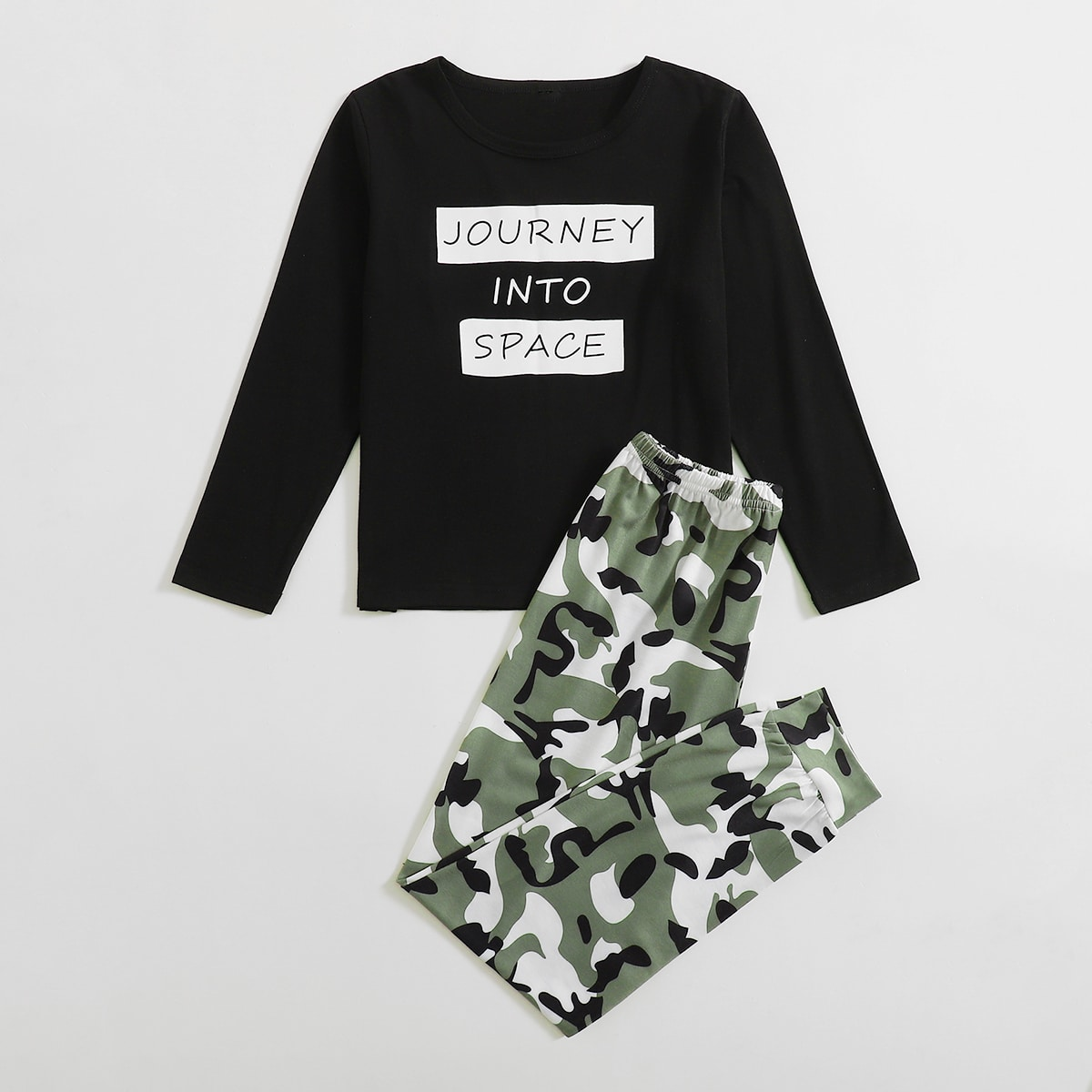 Камуфляж Повседневный Домашняя одежда для мальчиков