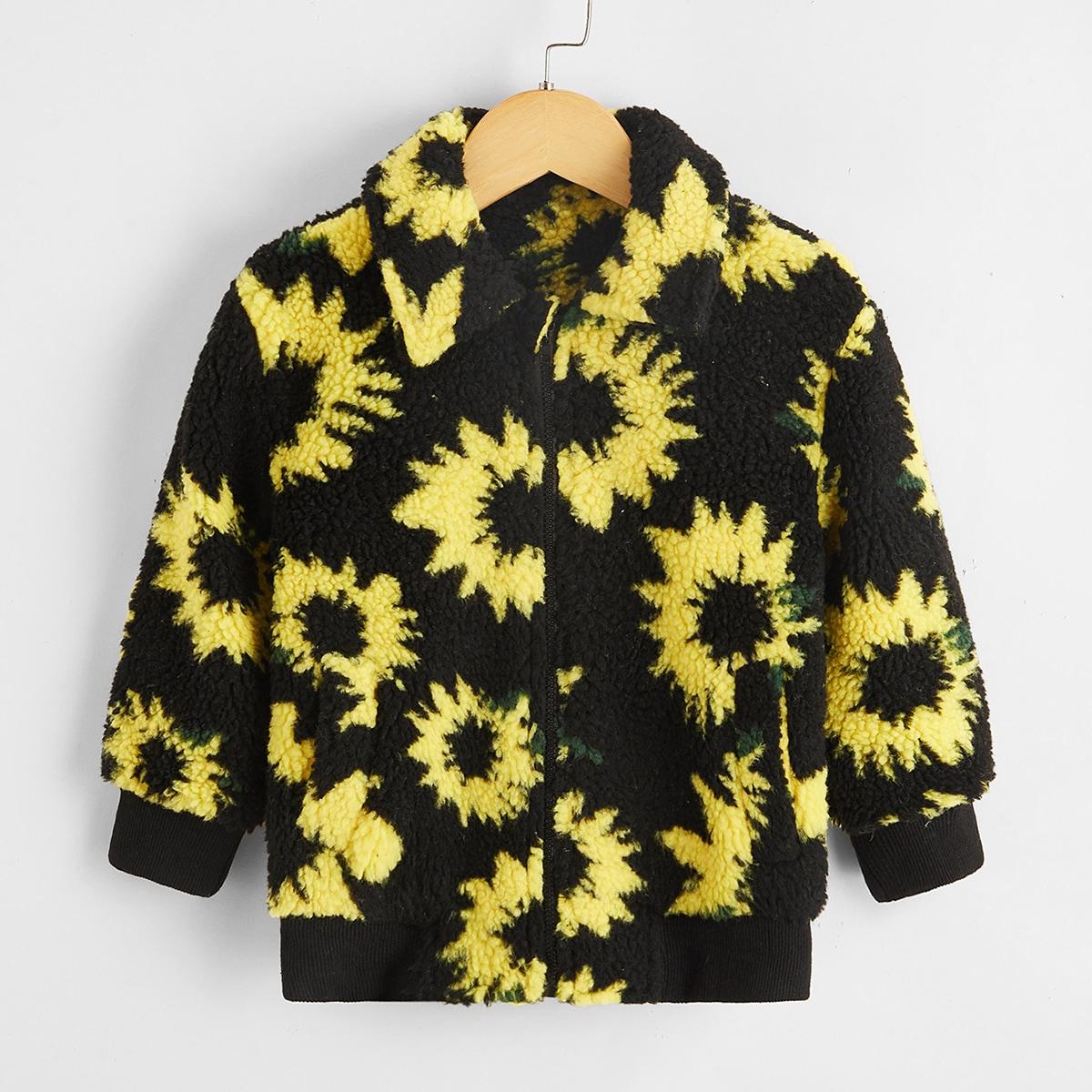 Цветочный повседневный куртки для девочек