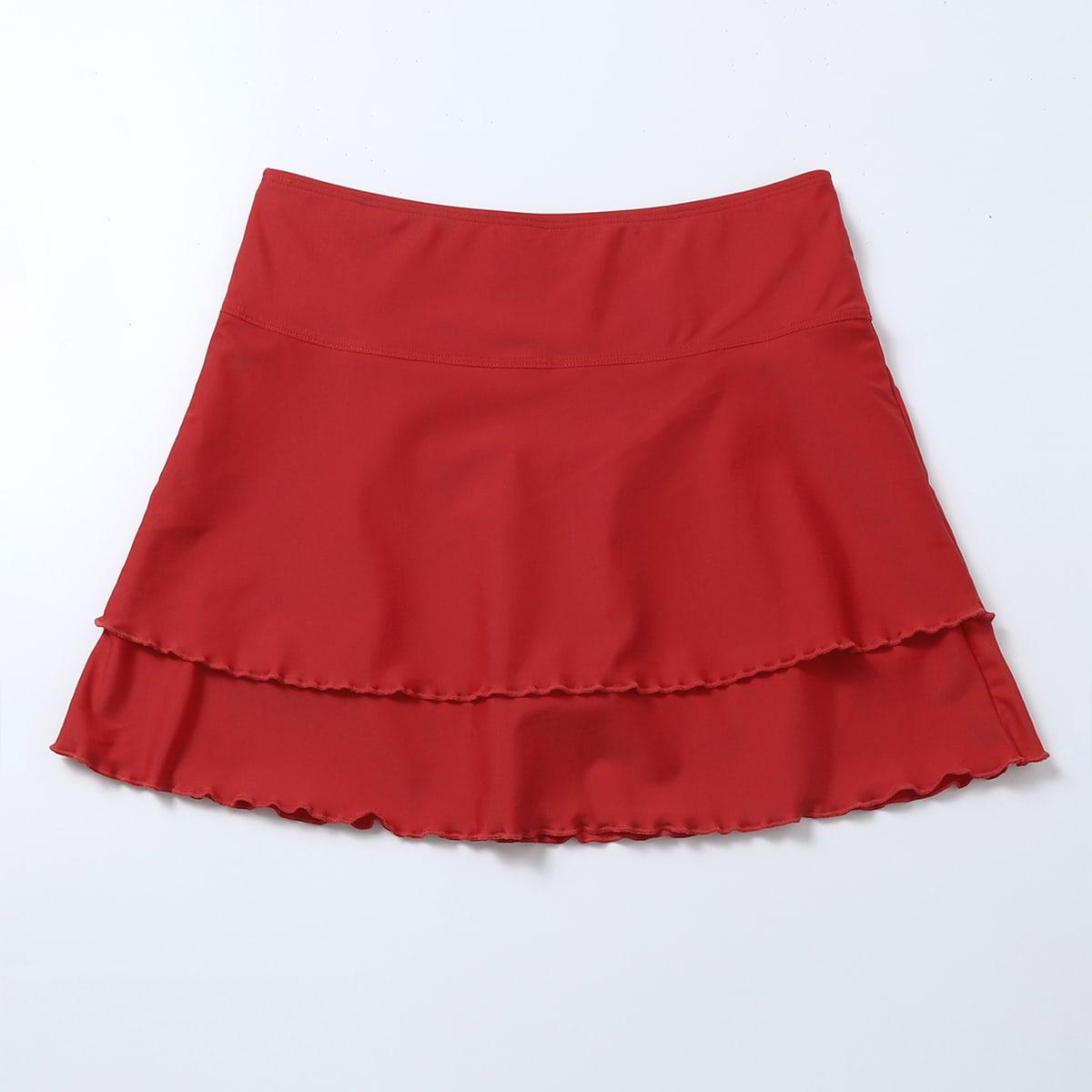 Ruffle Hem Bikini Skirt
