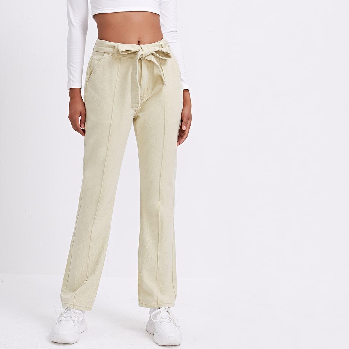 Пугавица одноцветный элегантный джинсы