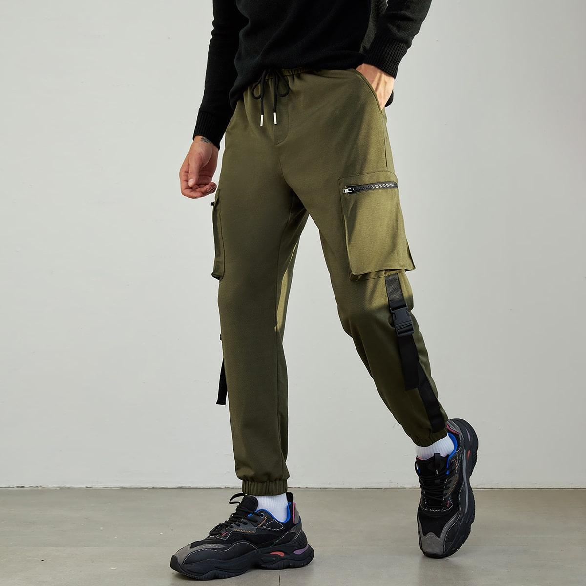 Мужские брюки карго на кулиске