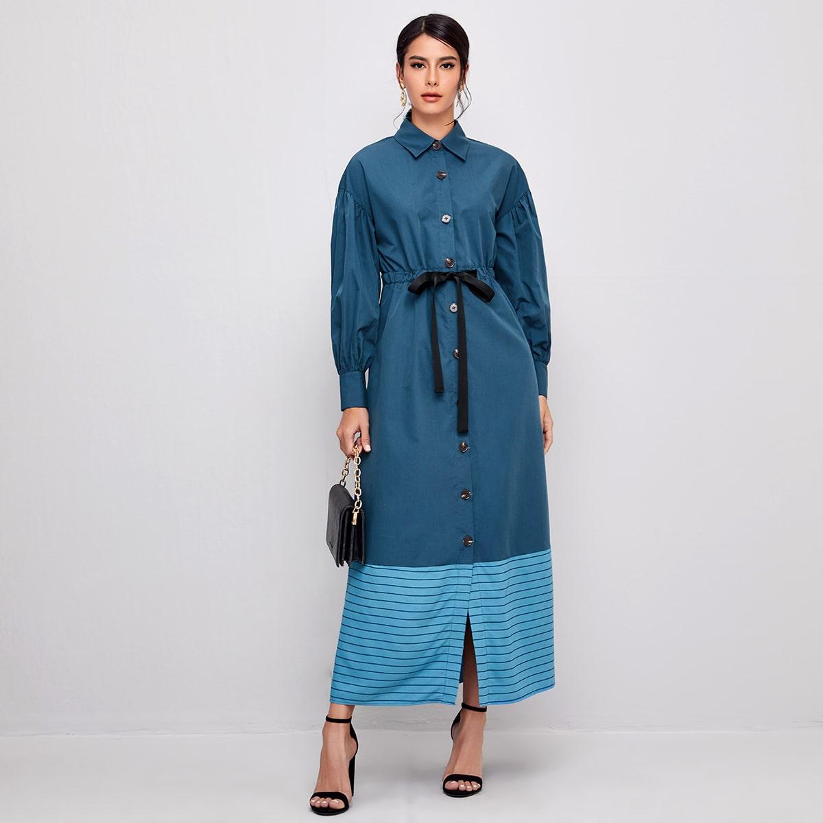 На кулиске полосатый скромный арабская одежда
