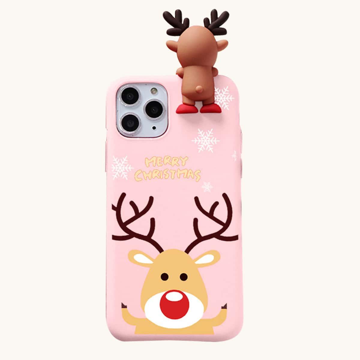 Weihnachten Handyetui mit Elch Dekor