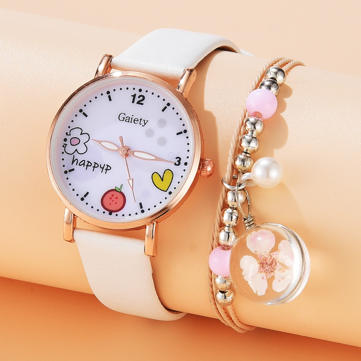 1pc Kids Pointer Watch & 1pc Bracelet