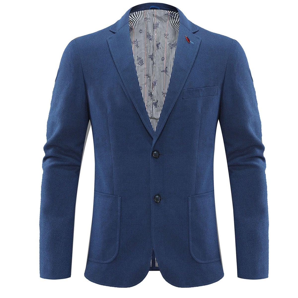 Мужской однобортный пиджак с лацканами