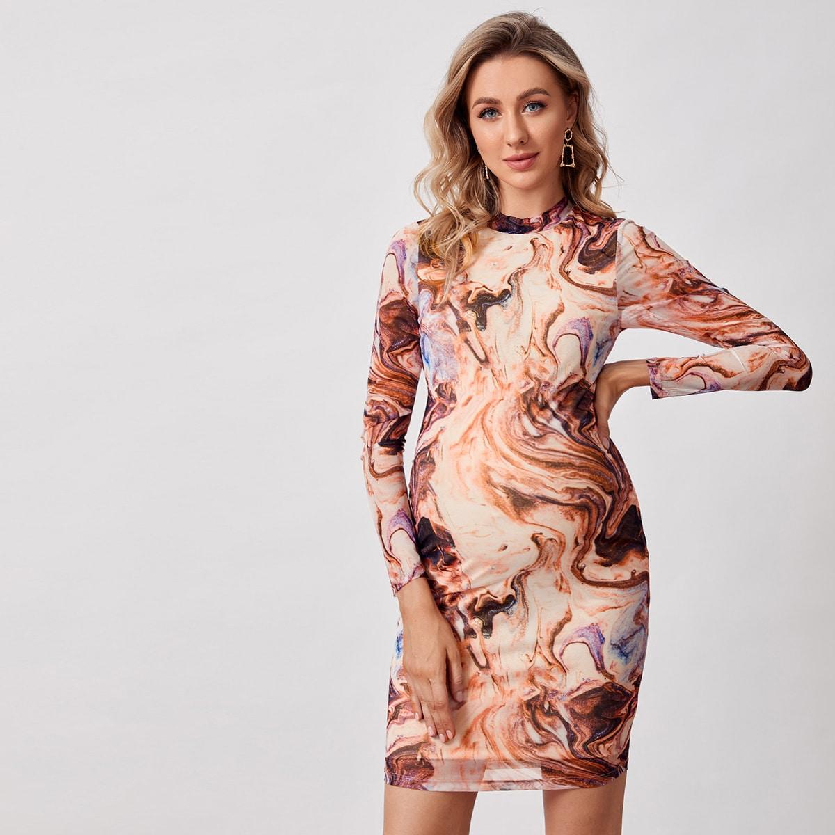 Мрамор элегантный платья для беременных