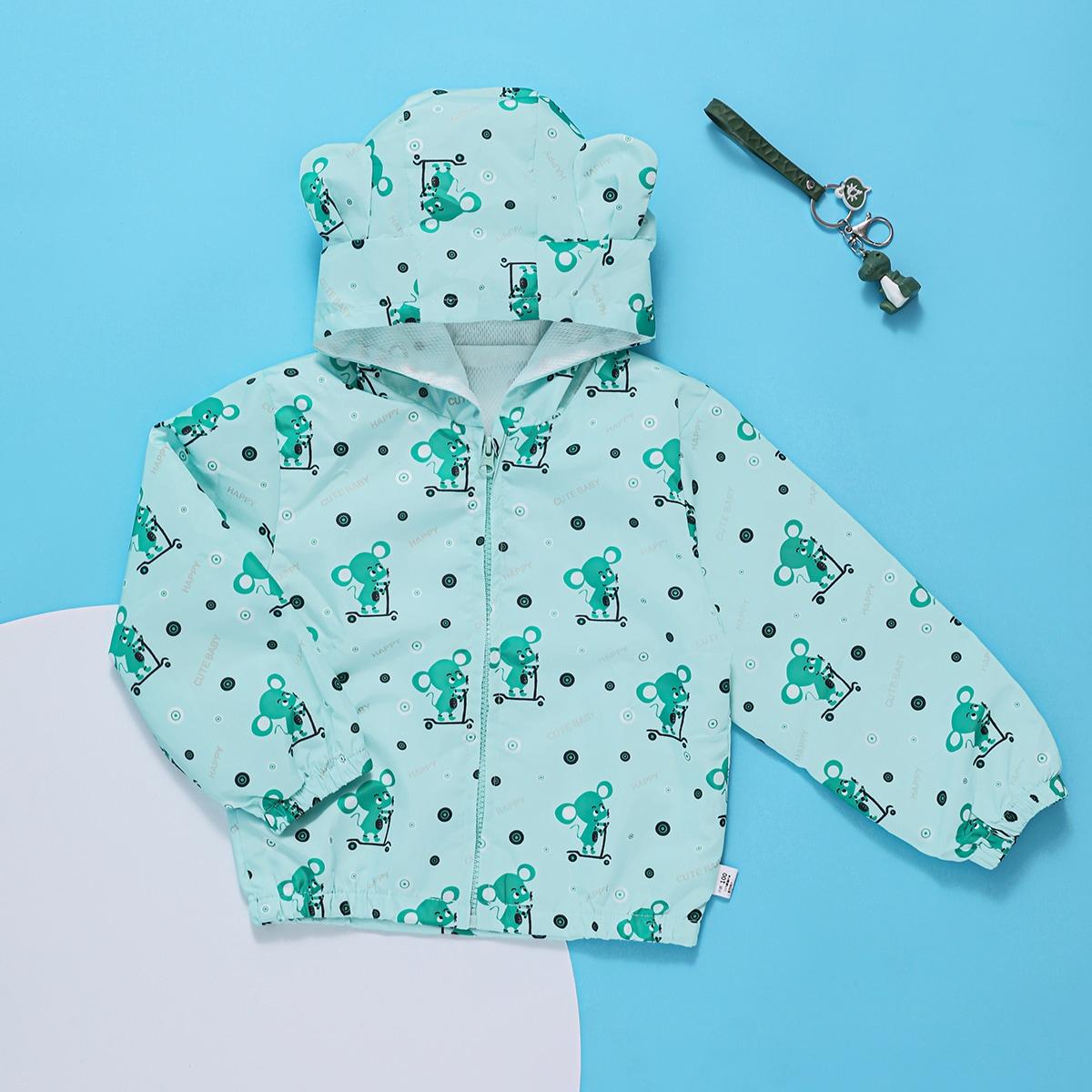 Куртка ветровка с мультипликационным принтом для мальчиков