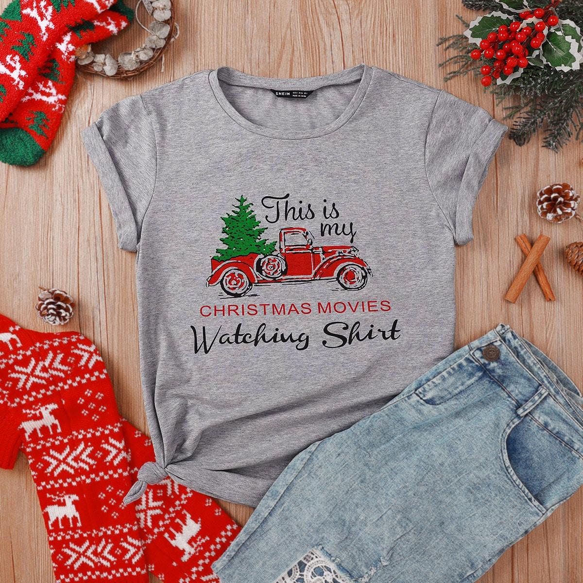 Casual Kerstmis T-shirt
