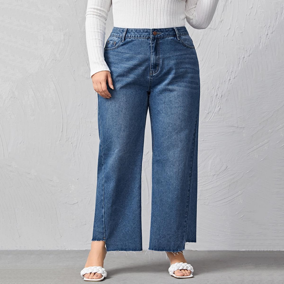 Широкие джинсы размера плюс