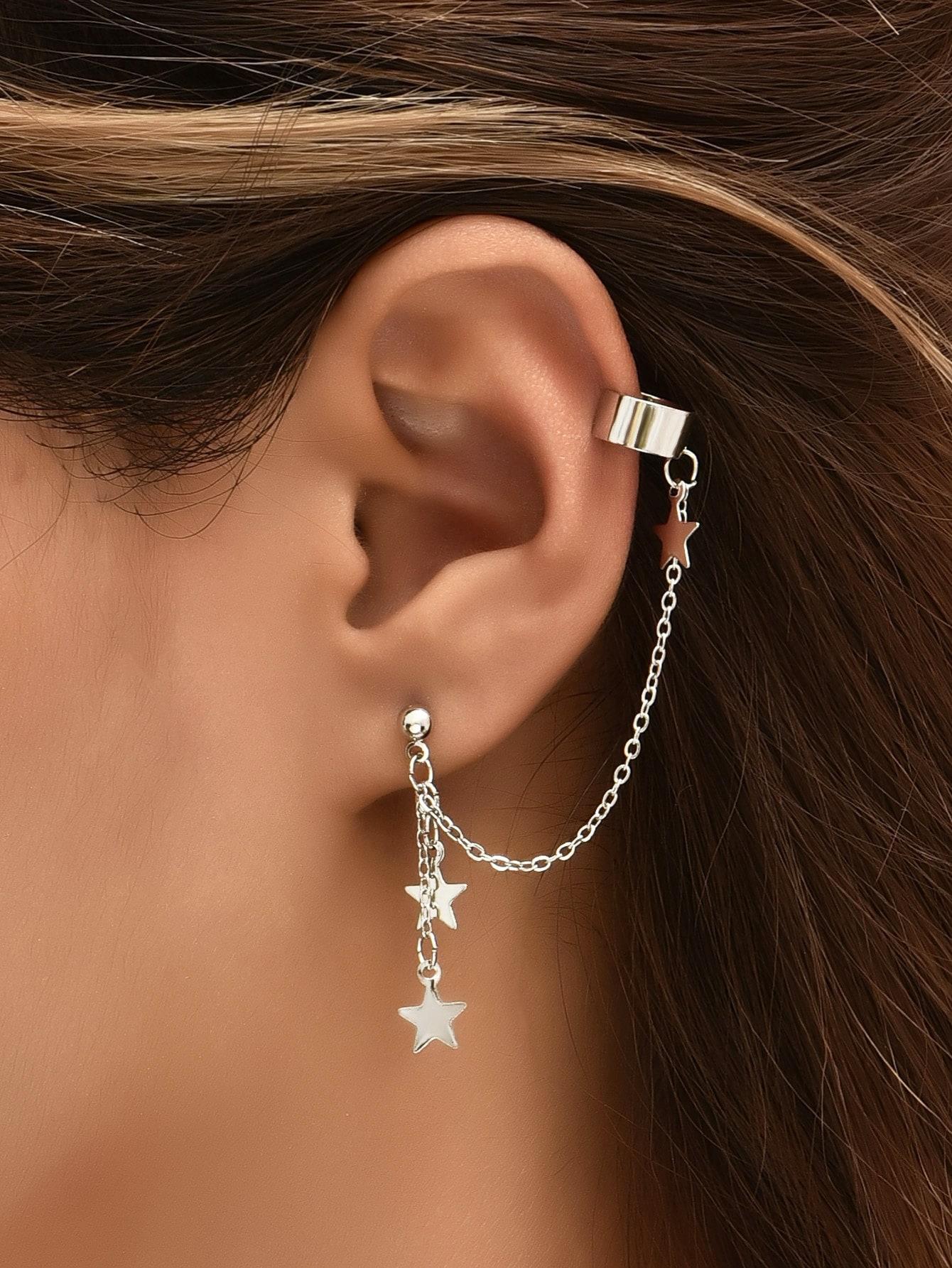 2pcs Star Charm Earring thumbnail
