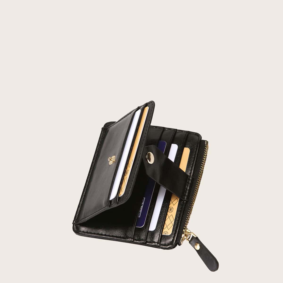 Minimalistische Kartenhalter mit Knöpfen