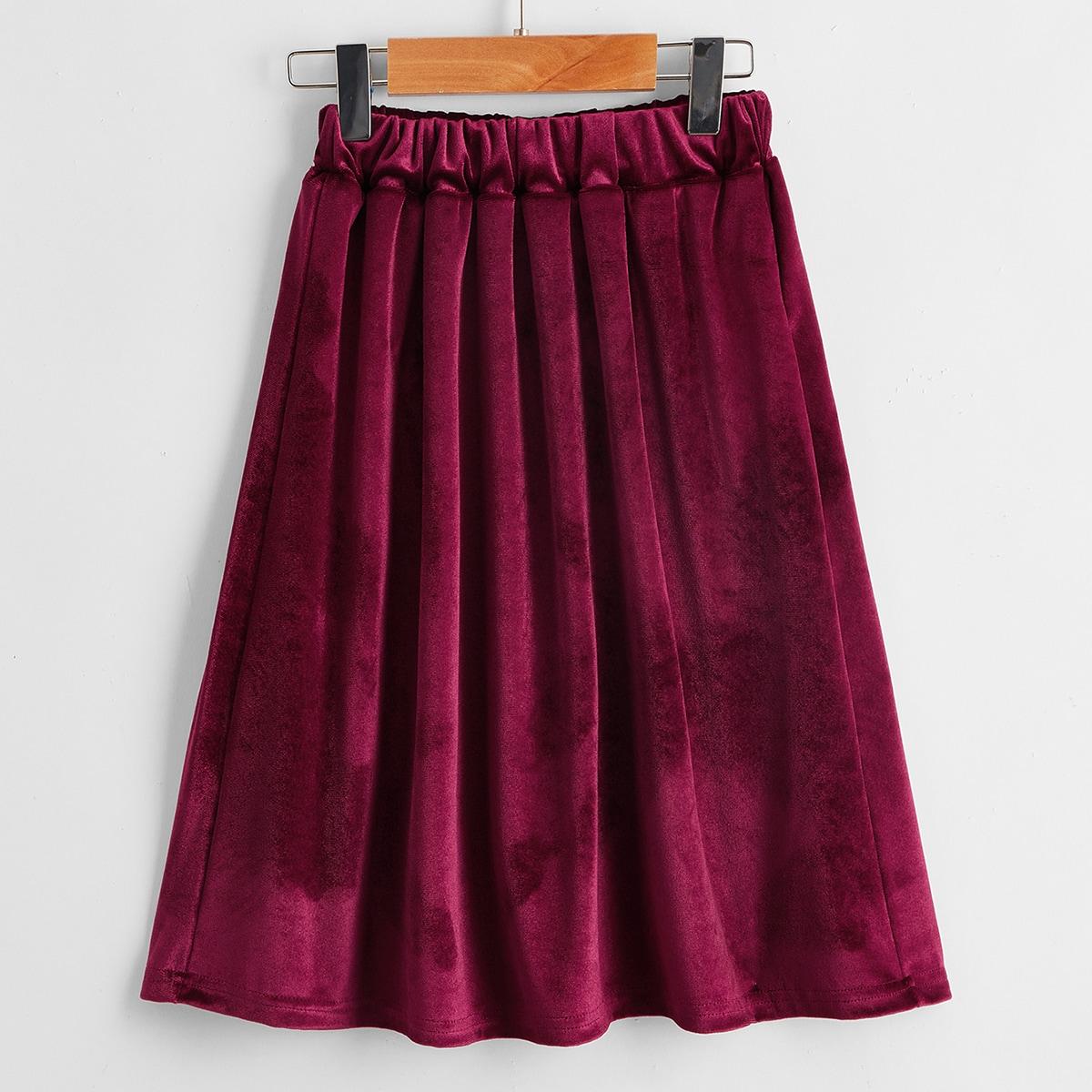Одноцветный очаровательный юбки для девочек