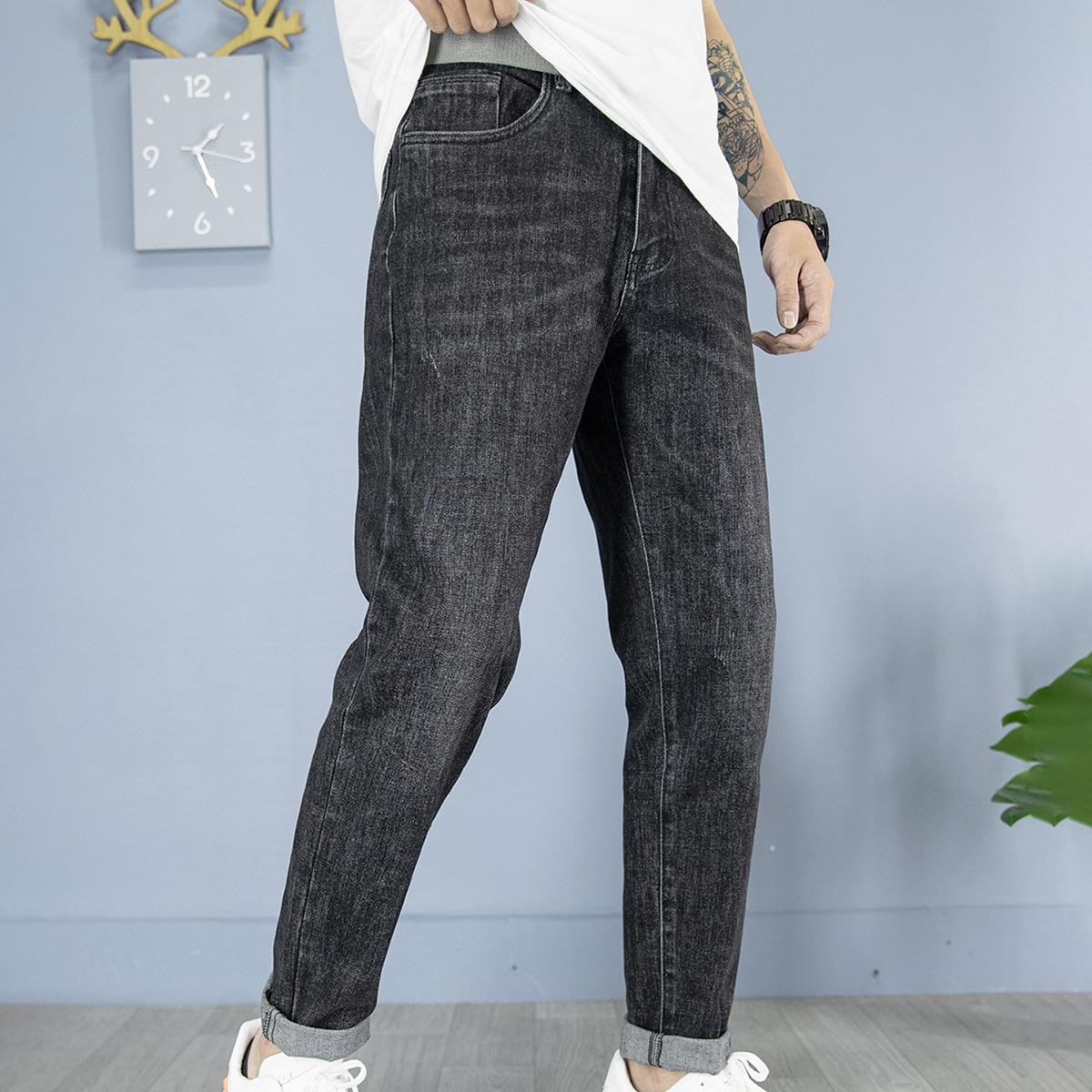 Мужские джинсы с карманом без пояса