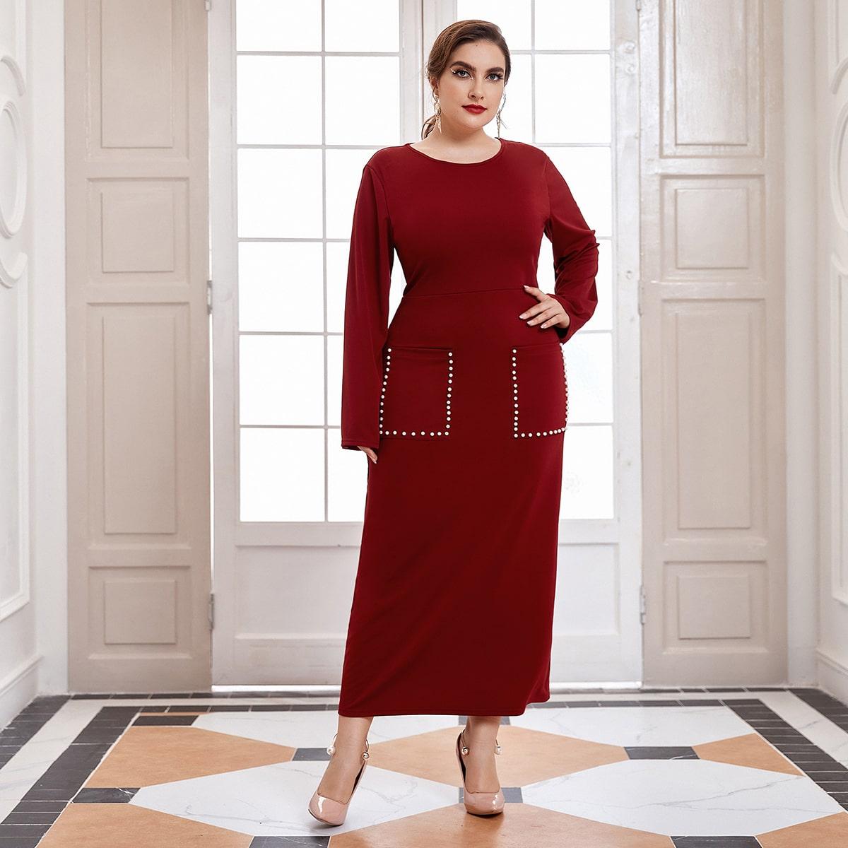 Жемчужина Элегантный Платья размер плюс по цене 1 530