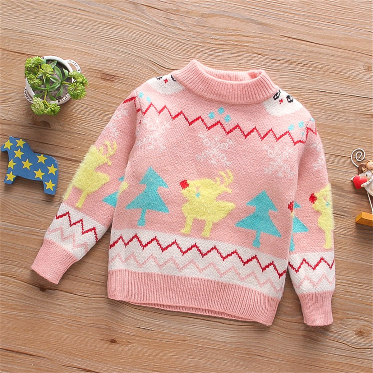 Этнический принт повседневный свитеры для девочек