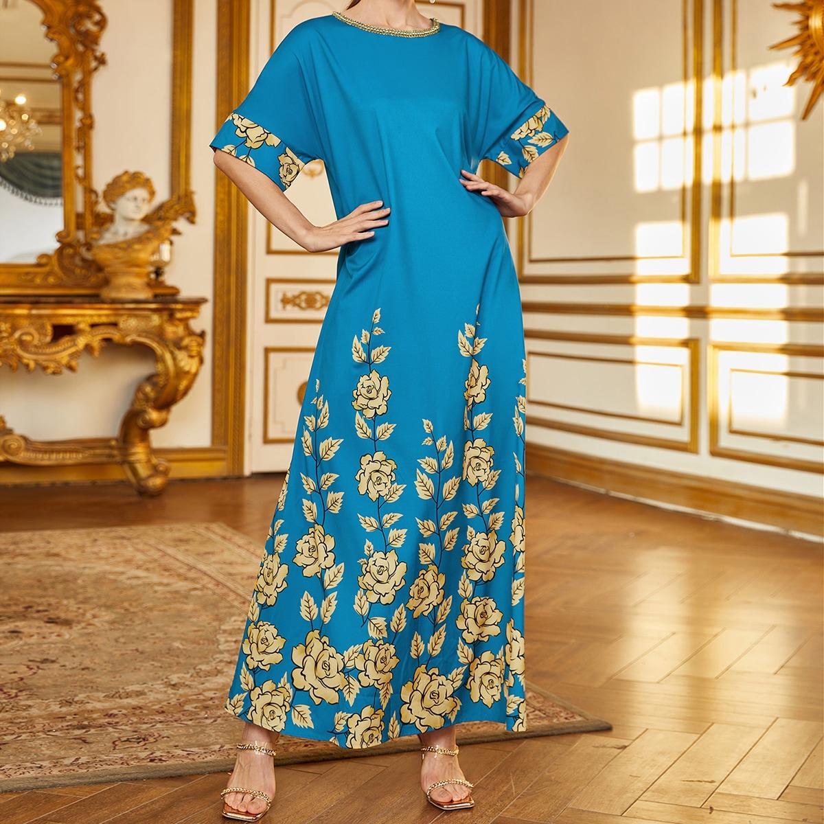 Лента со цветочками элегантный арабская одежда