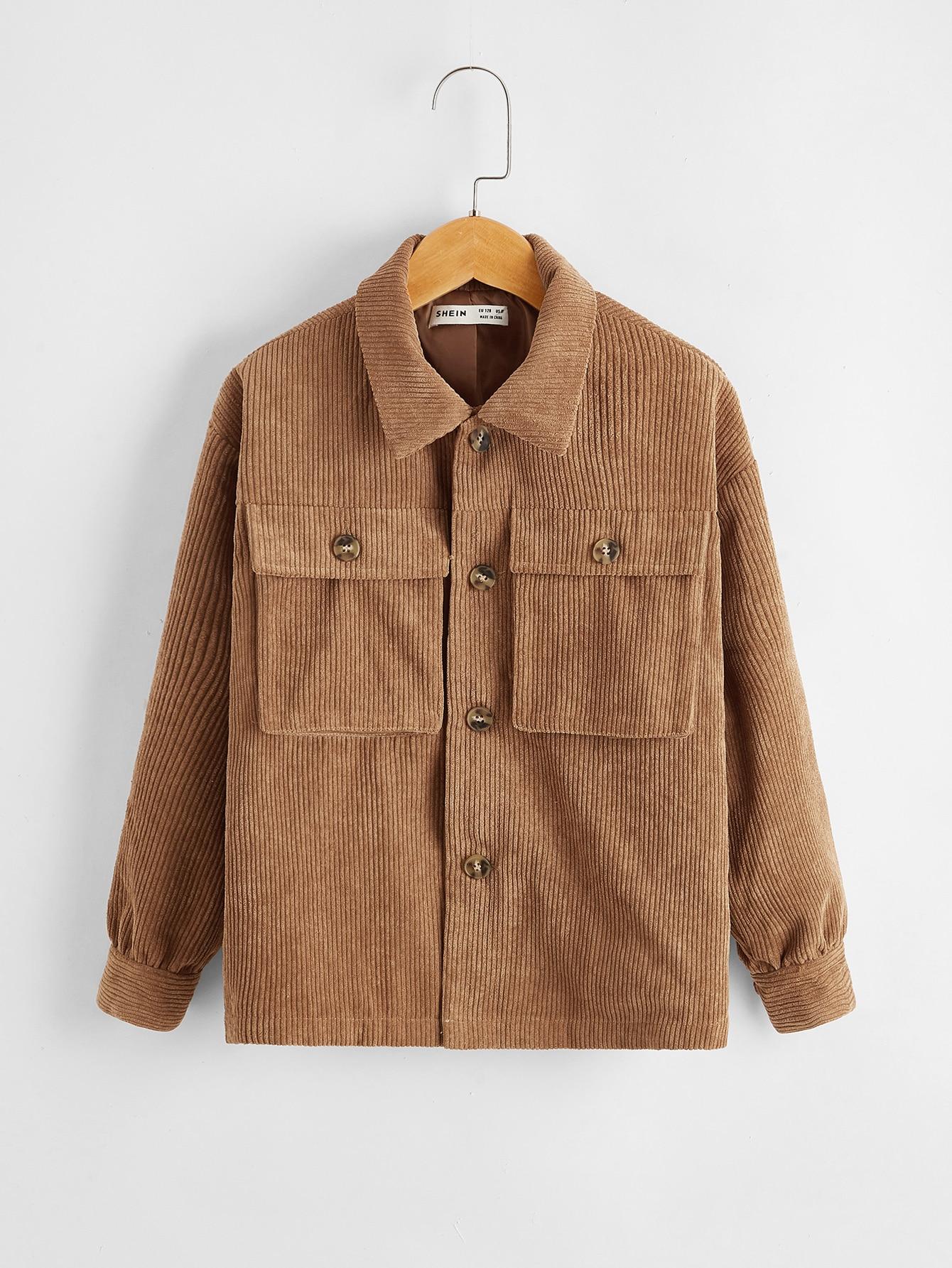 Boys Flap Pocket Cord Jacket
