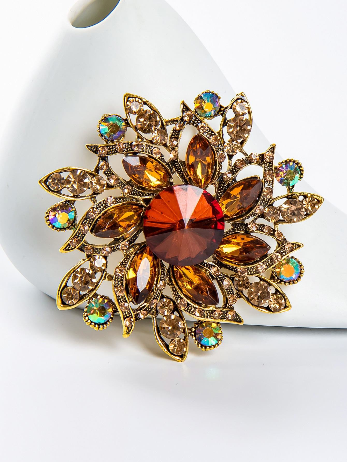 Crystal Flower Brooch thumbnail