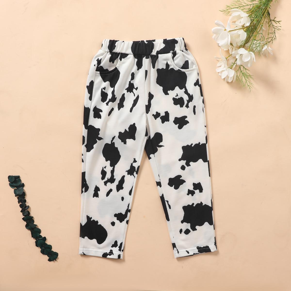 Карман животный повседневный брюки для маленьких девочек