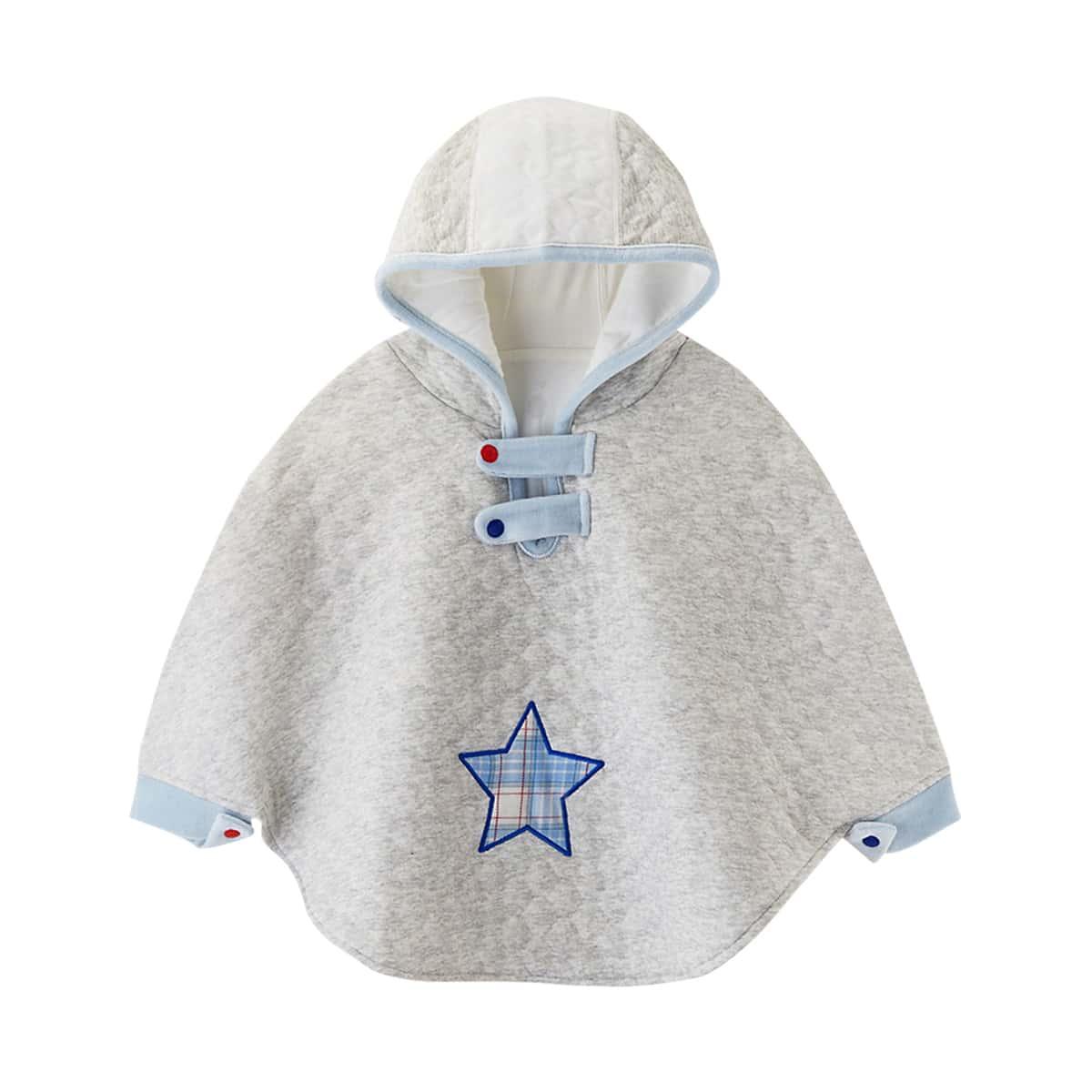 С вышивкой геометрический повседневный пальто для маленьких девочек