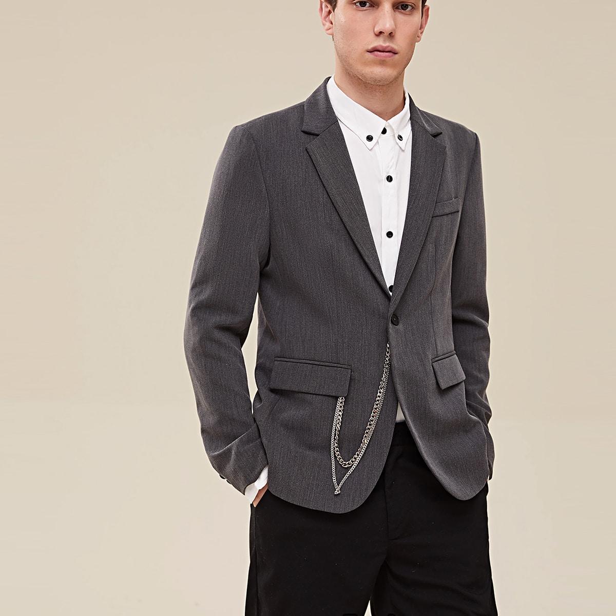 Мужской пиджак с пуговицей