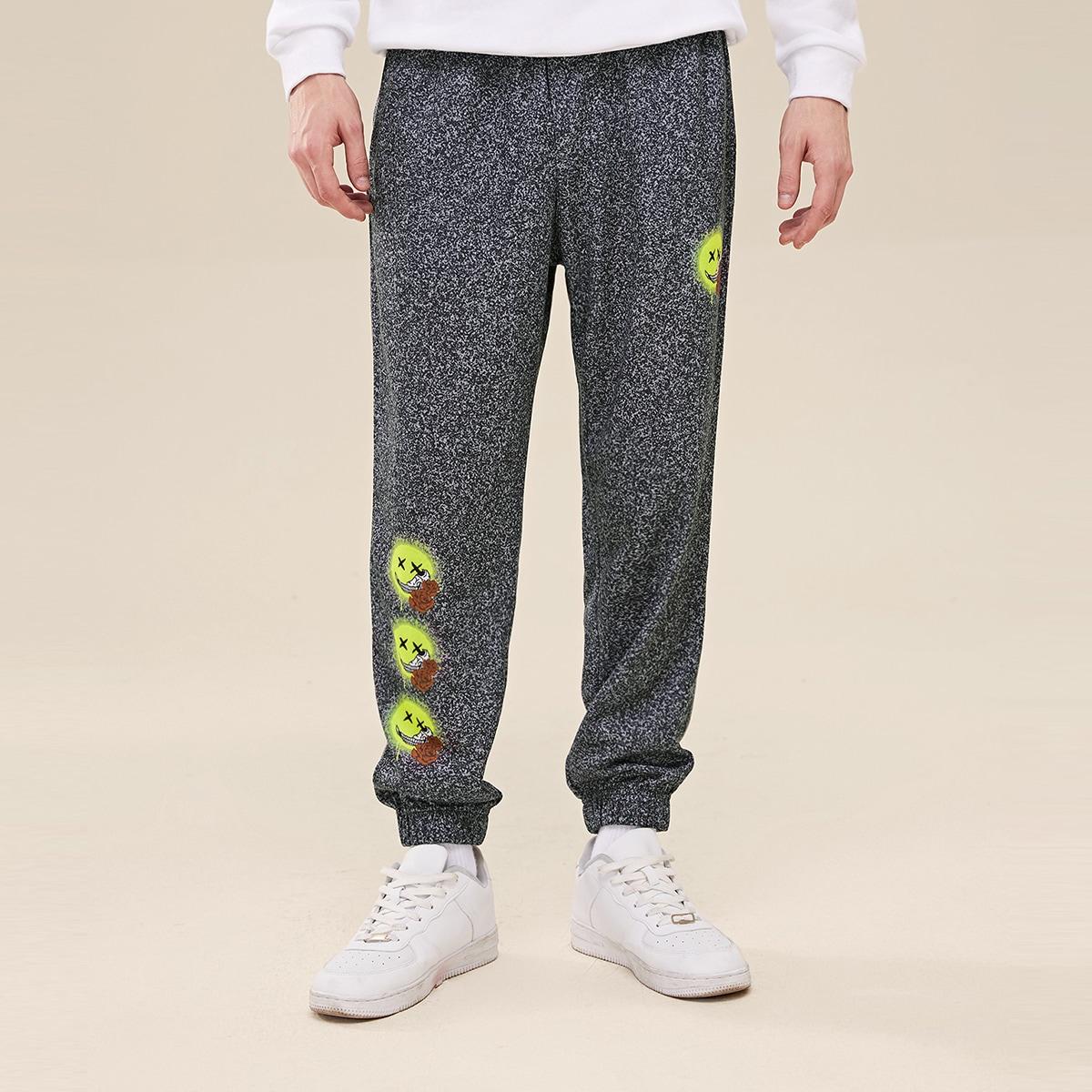 Карман цветочный повседневный мужские брюки