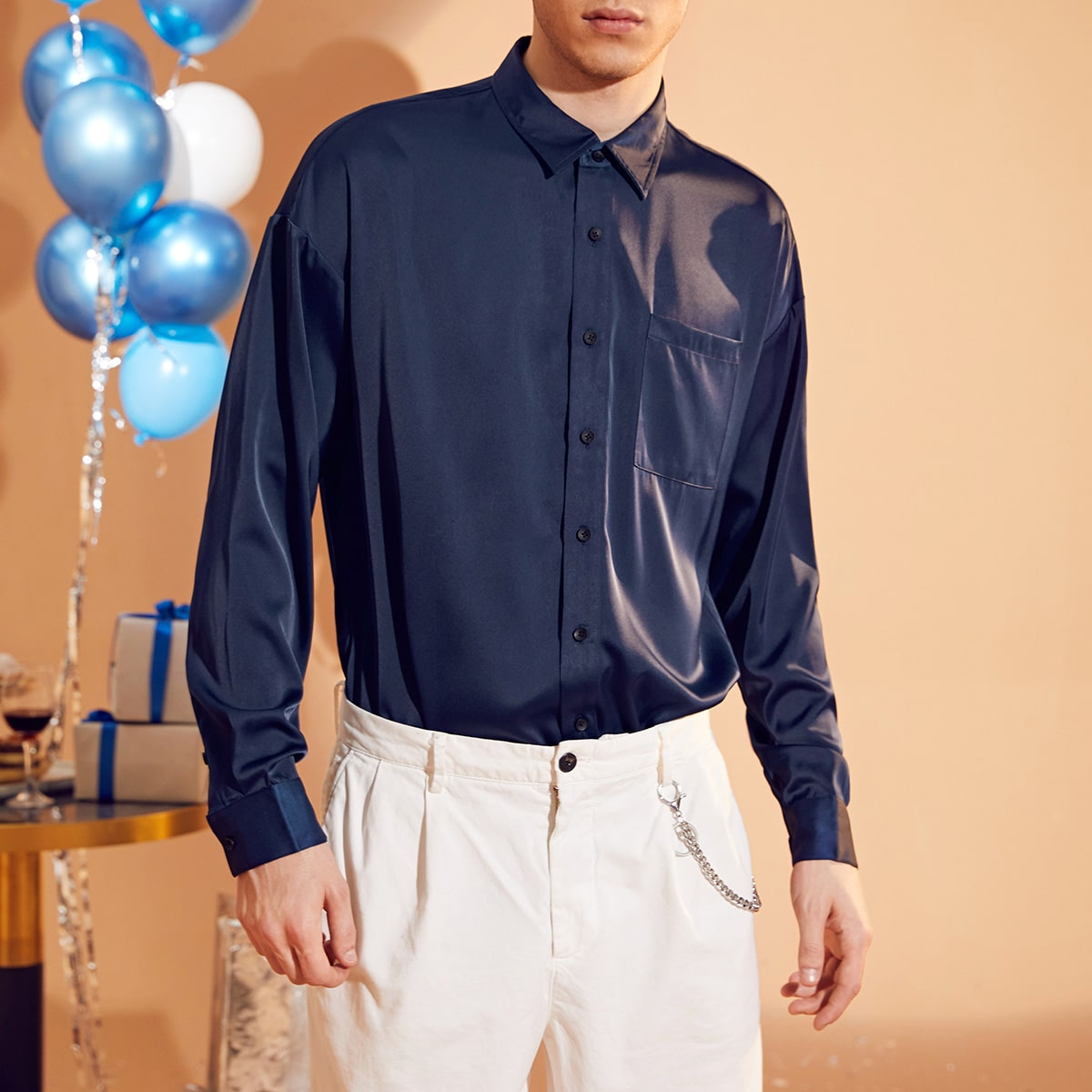 Карман одноцветный работа мужские рубашки