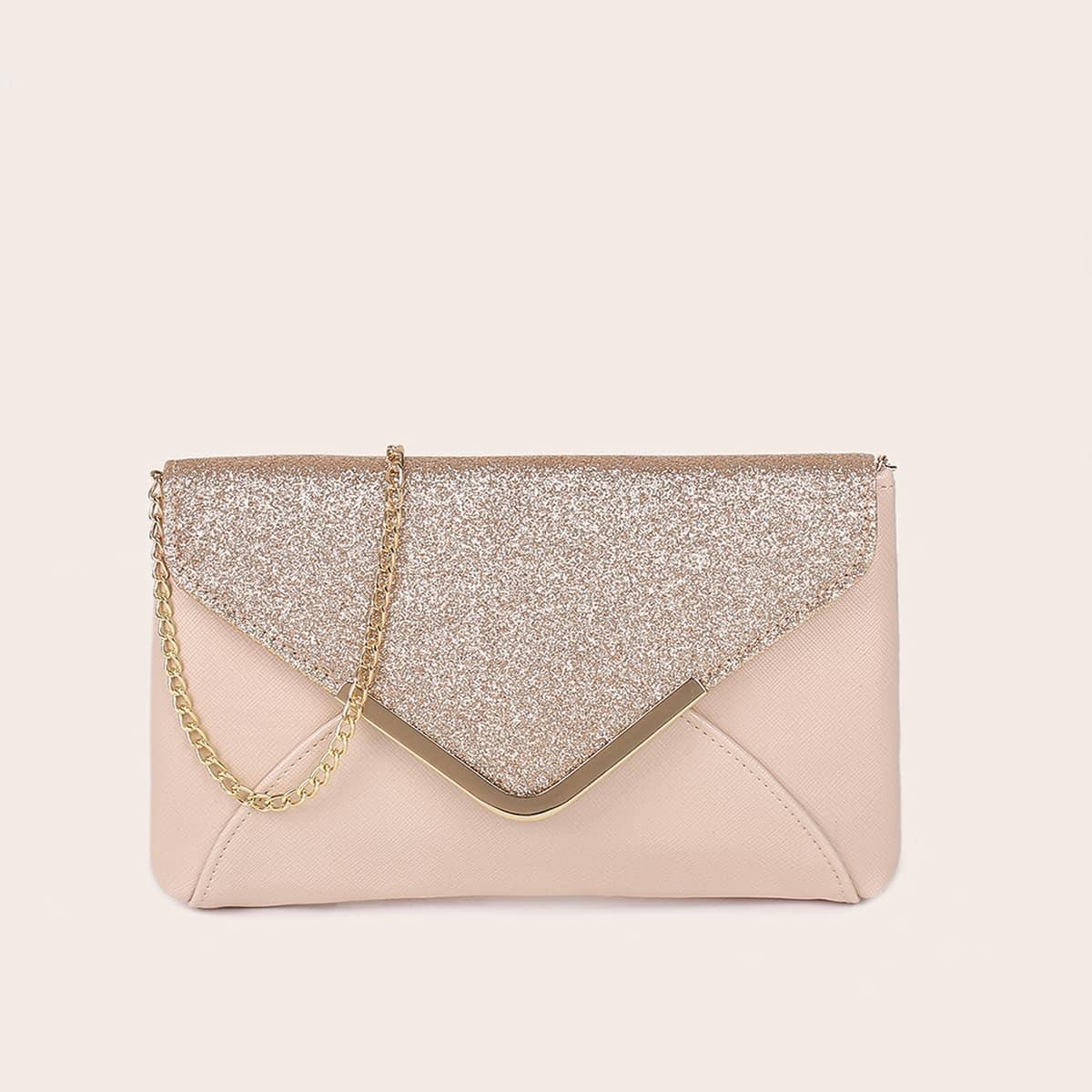 Блестящая сумка-конверт