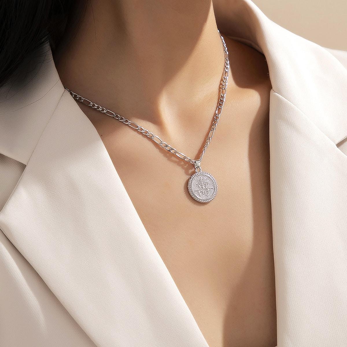 Halskette mit chinesischer Münze Anhänger