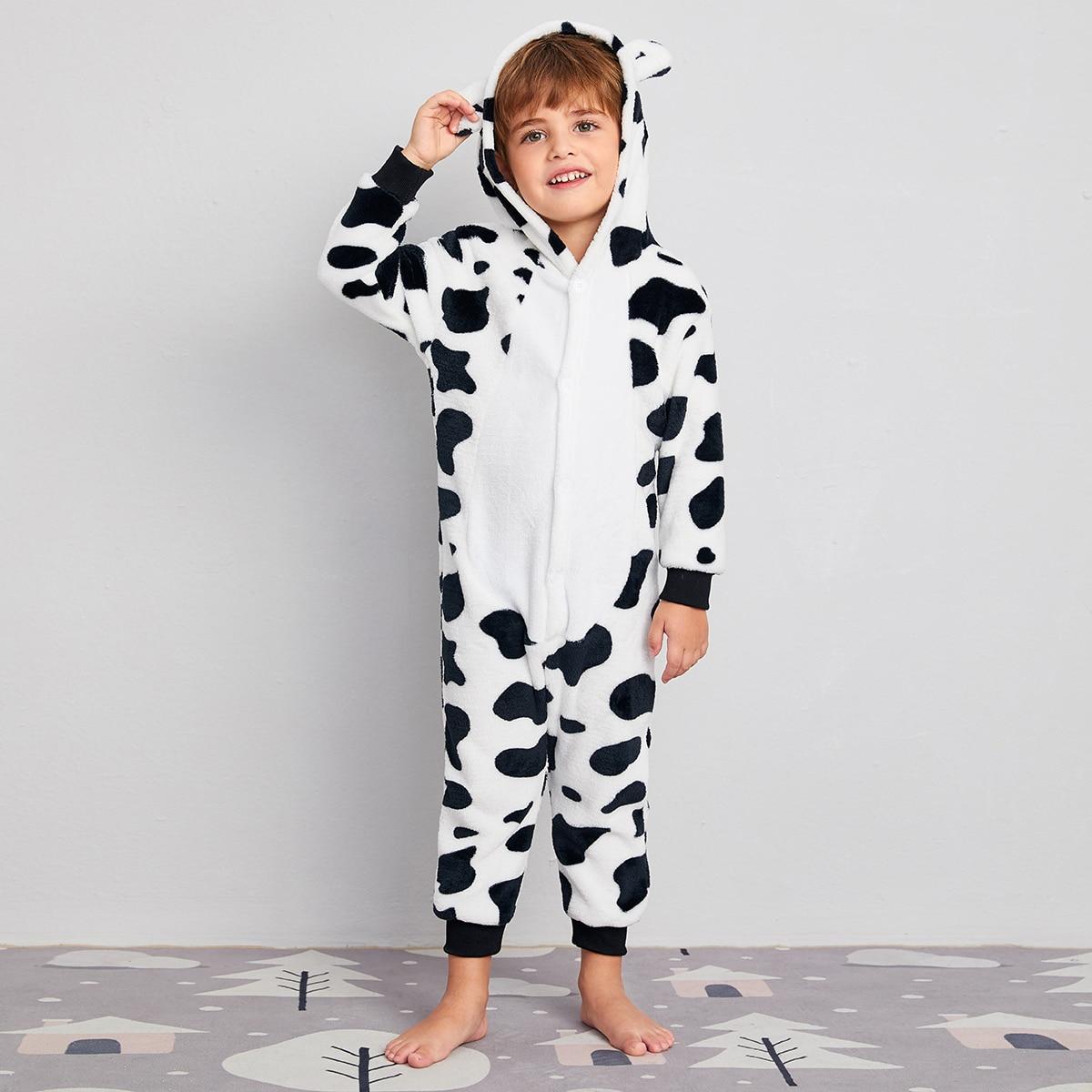 с вышивкой Животный милый Домашняя одежда для мальчиков