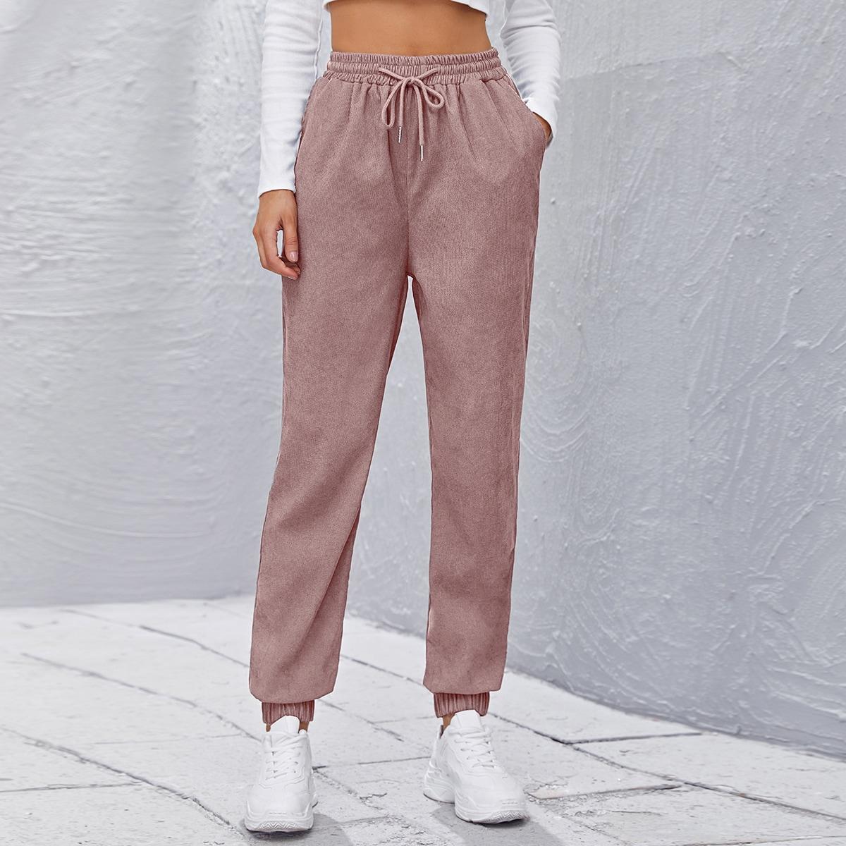 Вельветовые брюки на кулиске