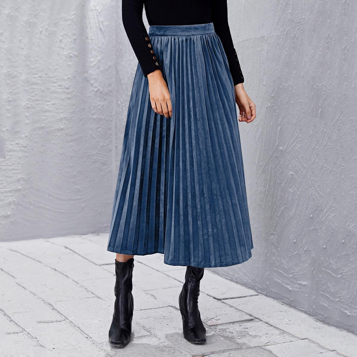 Плиссированная юбка с высокой талией