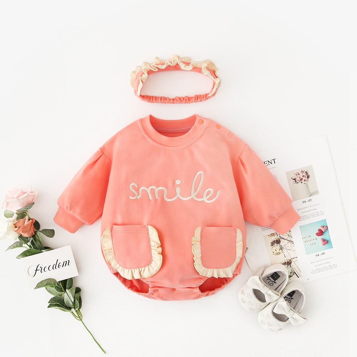 С карманами буква боди для малышей