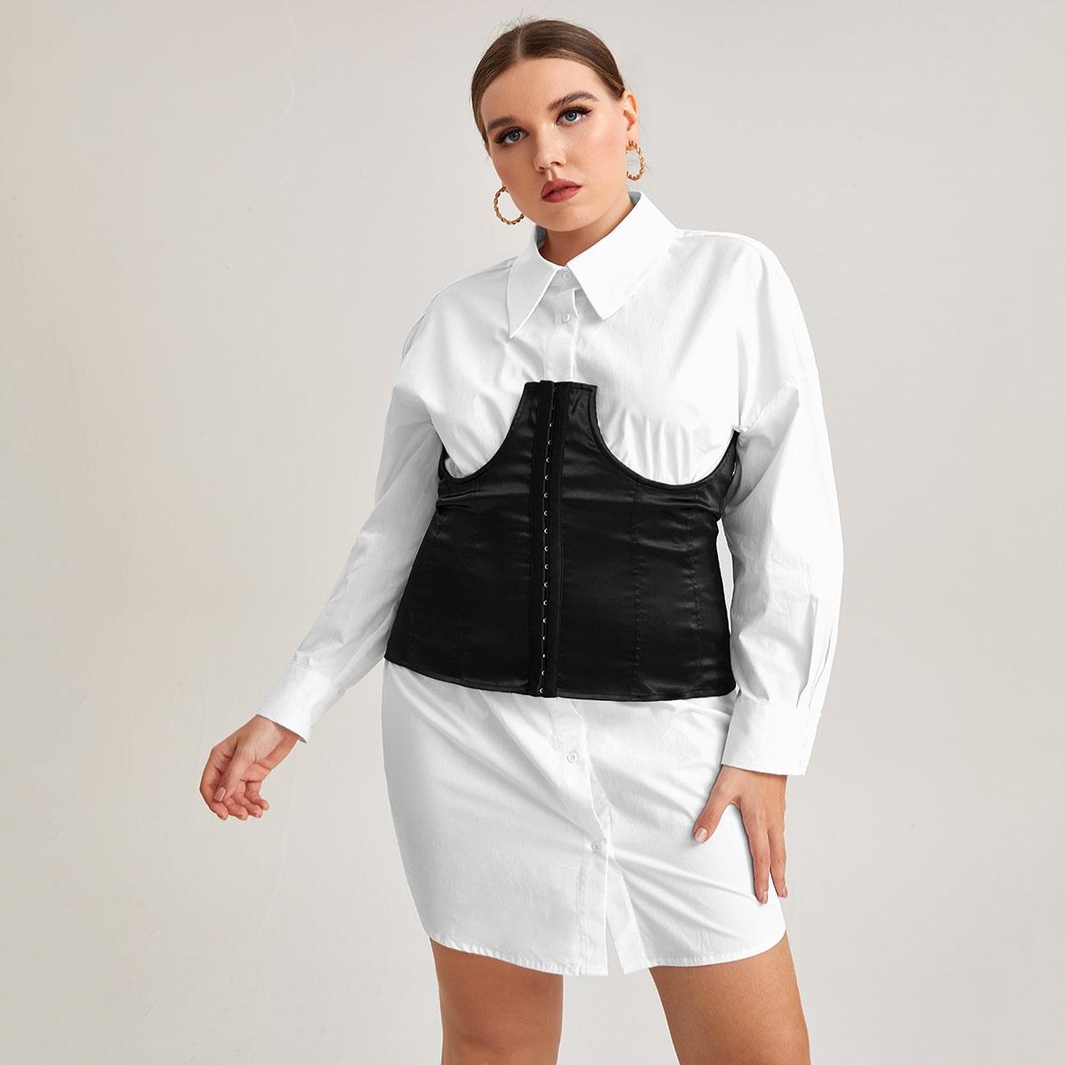 Платье-рубашка и топ-бюстье размера плюс