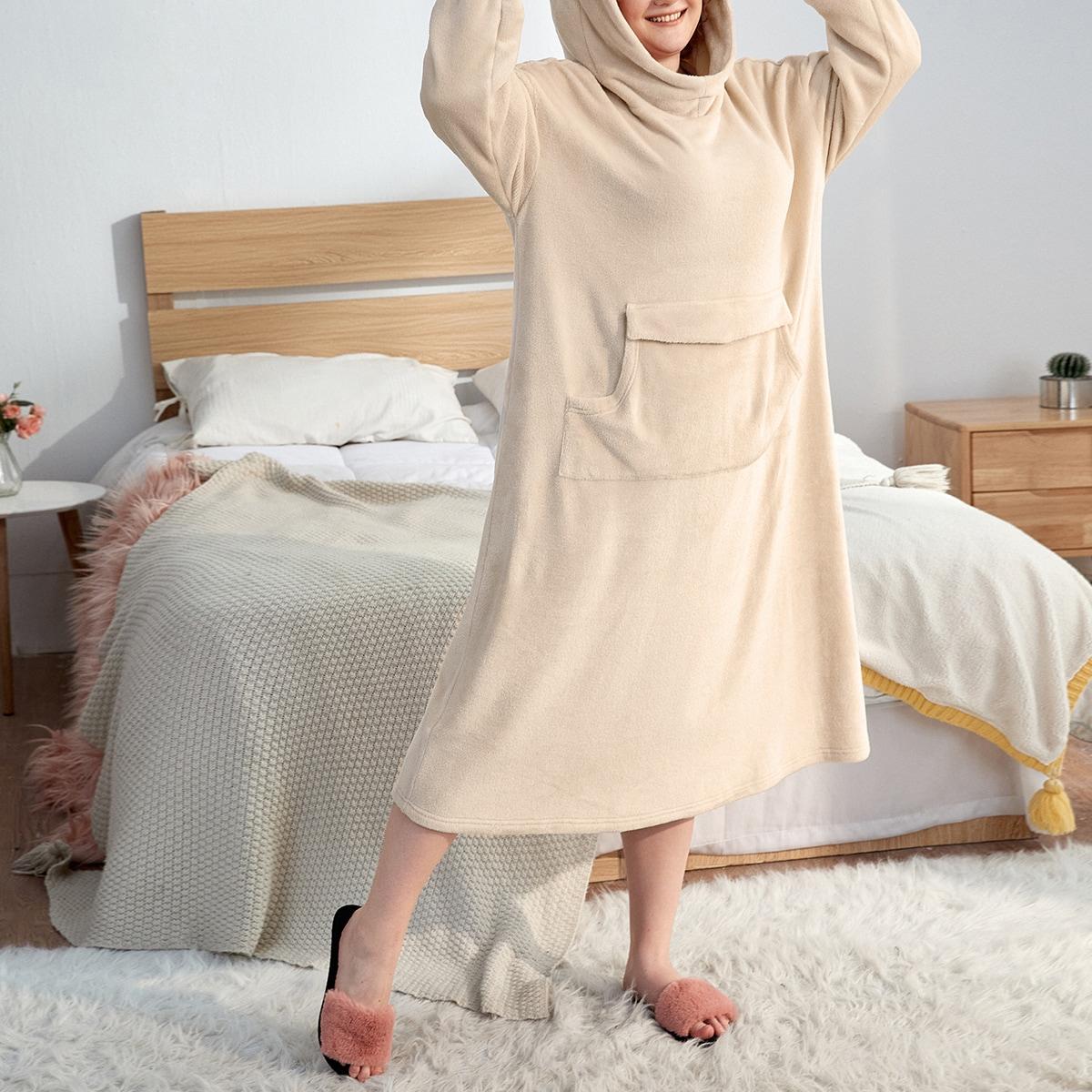 Плюшевые пижамы с капюшоном и 3d дизайном ушей большого размера