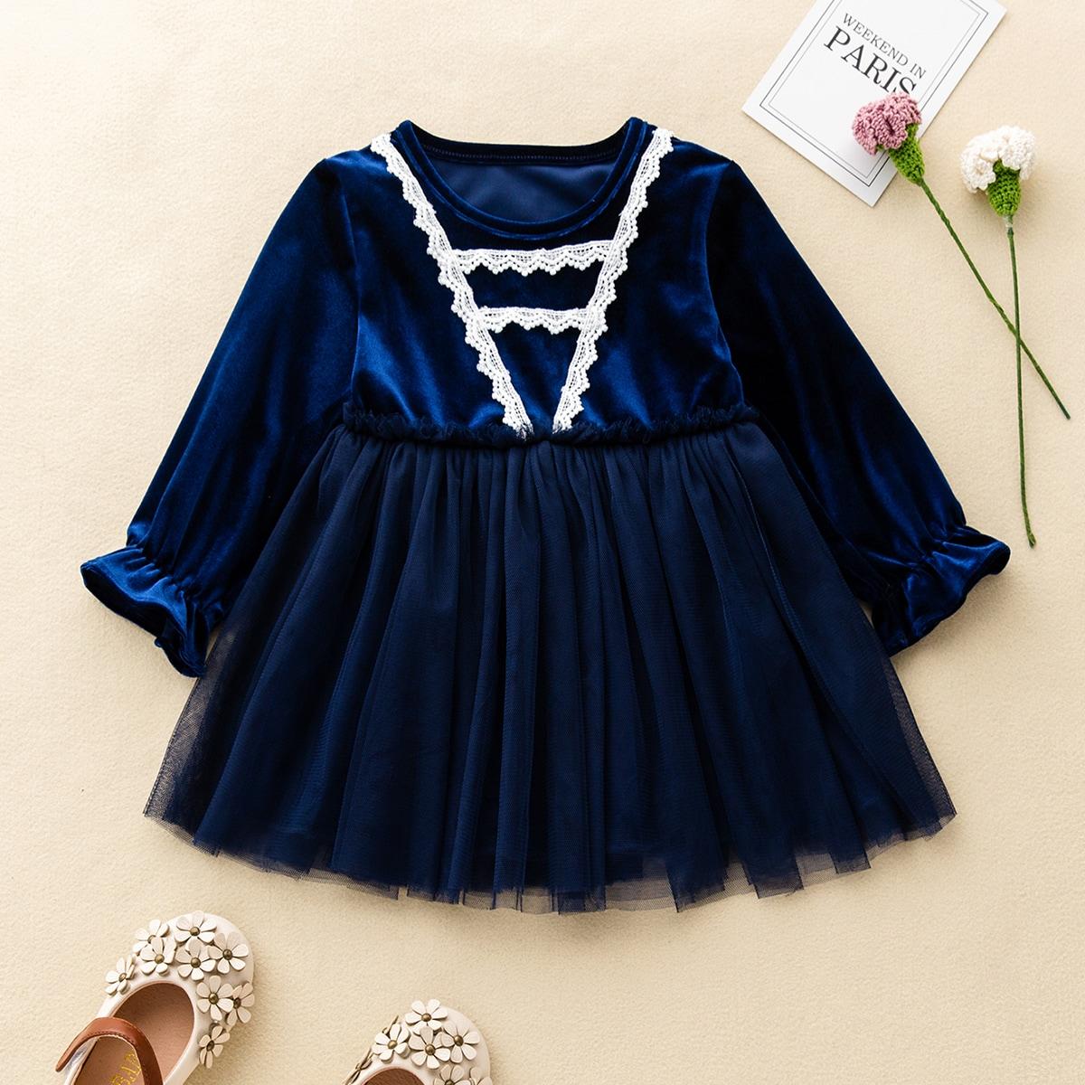 С оборками очаровательный платья для малышей