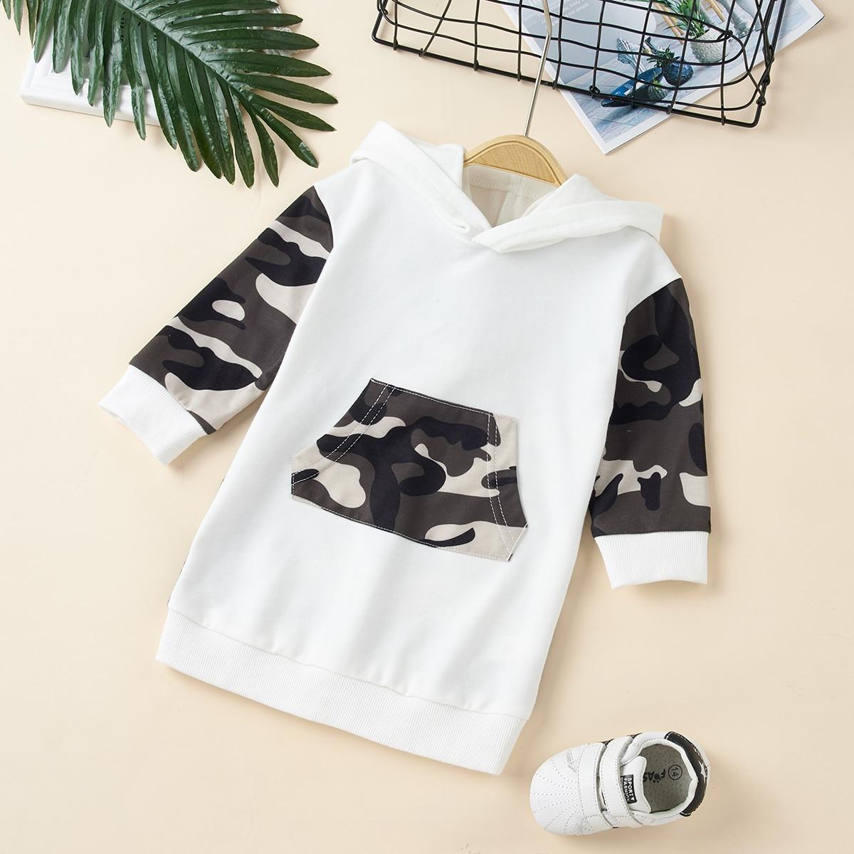 С карманами камуфляж повседневный свитшоты для малышей