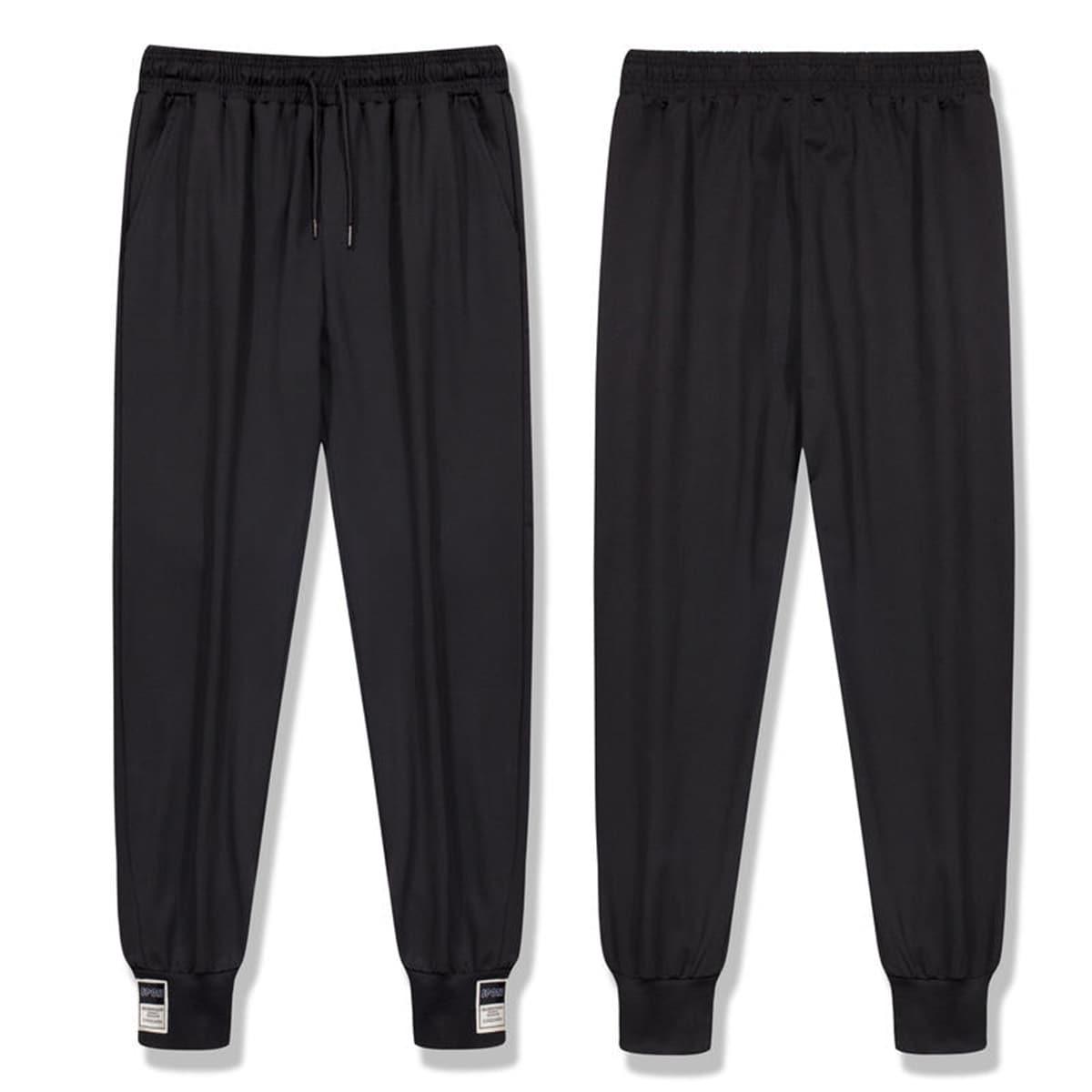 Мужские спортивные брюки с нашивкой и кулиской