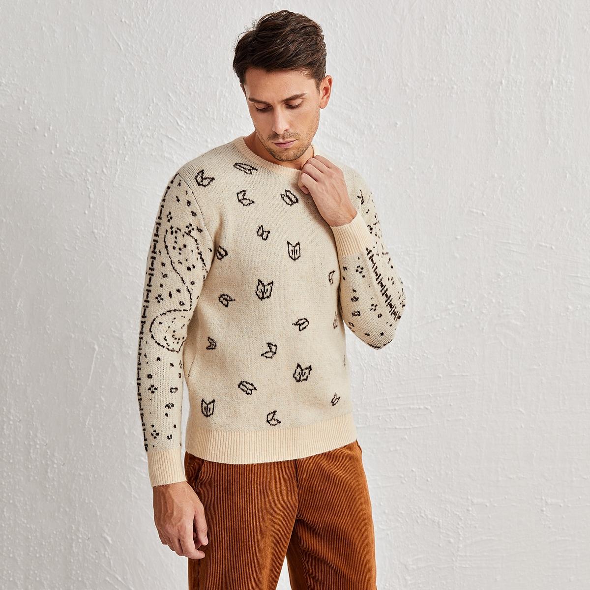 Мужской свитер с графическим узором