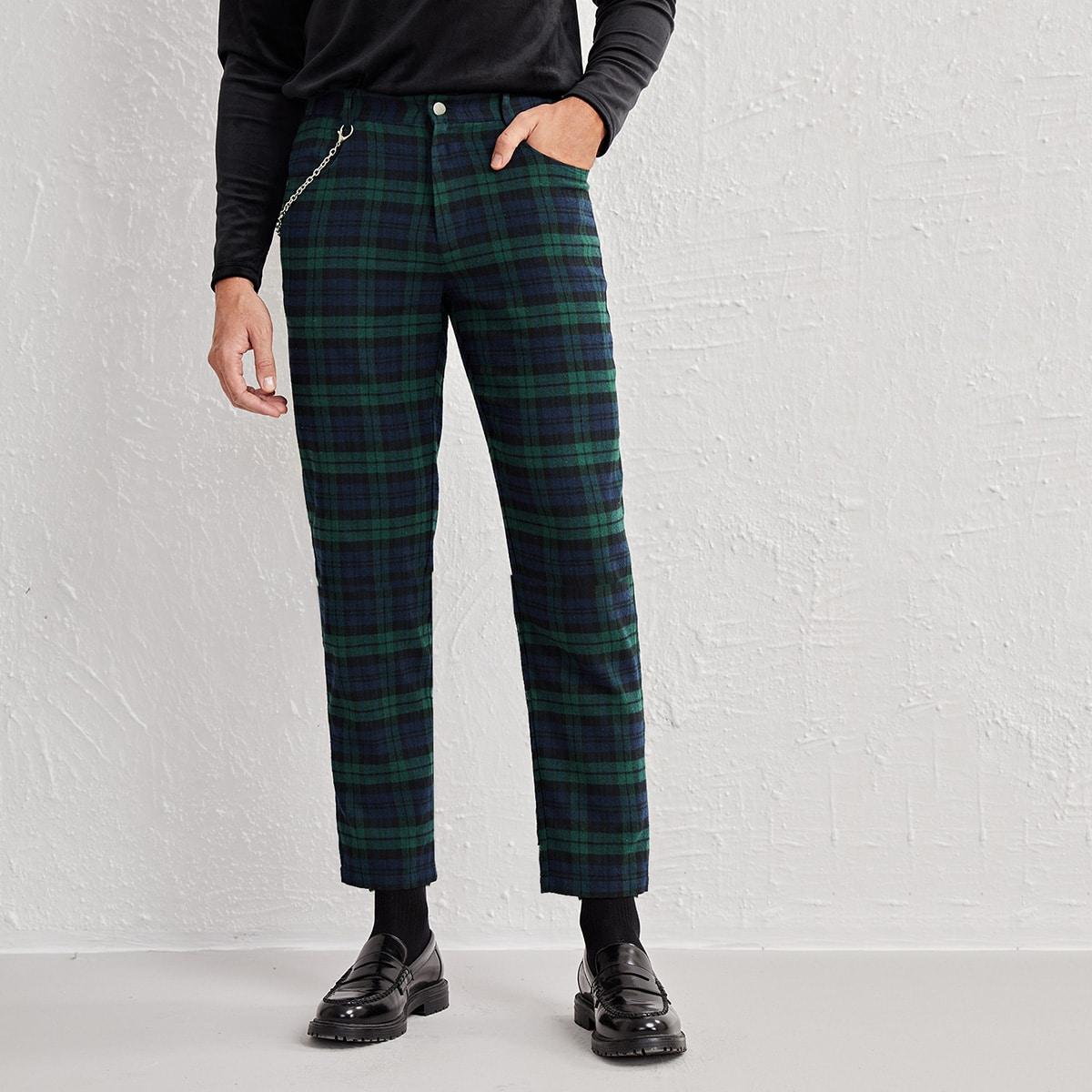 Пугавица клетчатый институтский мужские брюки