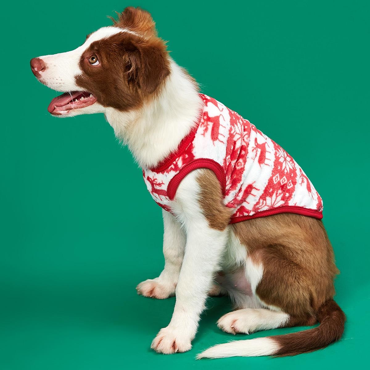 Tank Top mit Weihnachten Hirsch Design für Hund