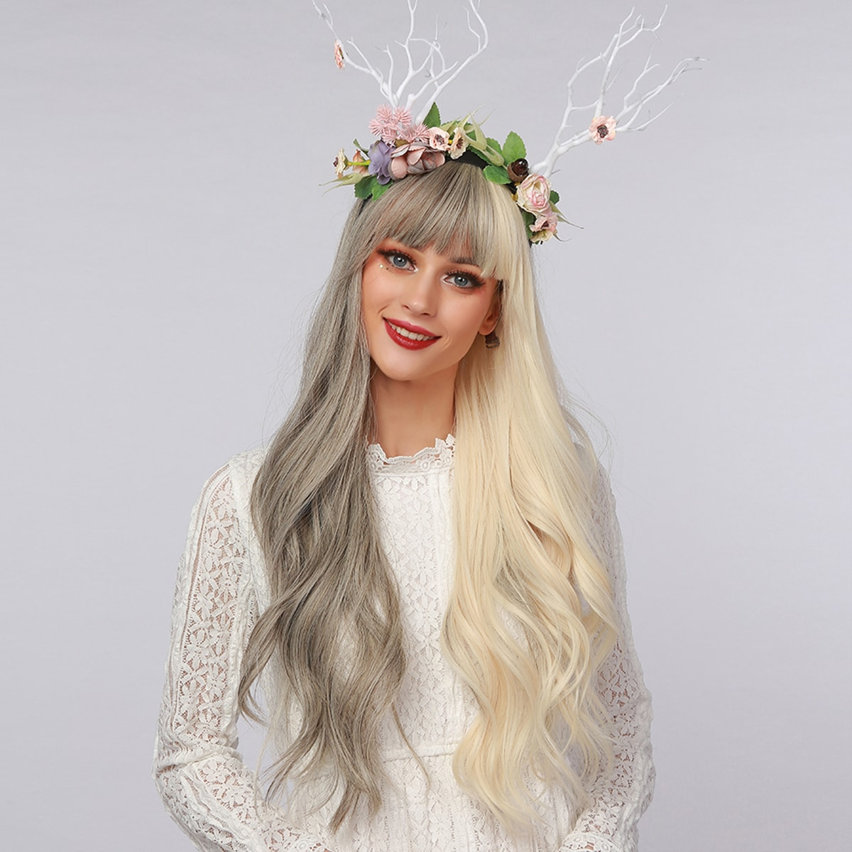 Two Tone Long Curly Wig
