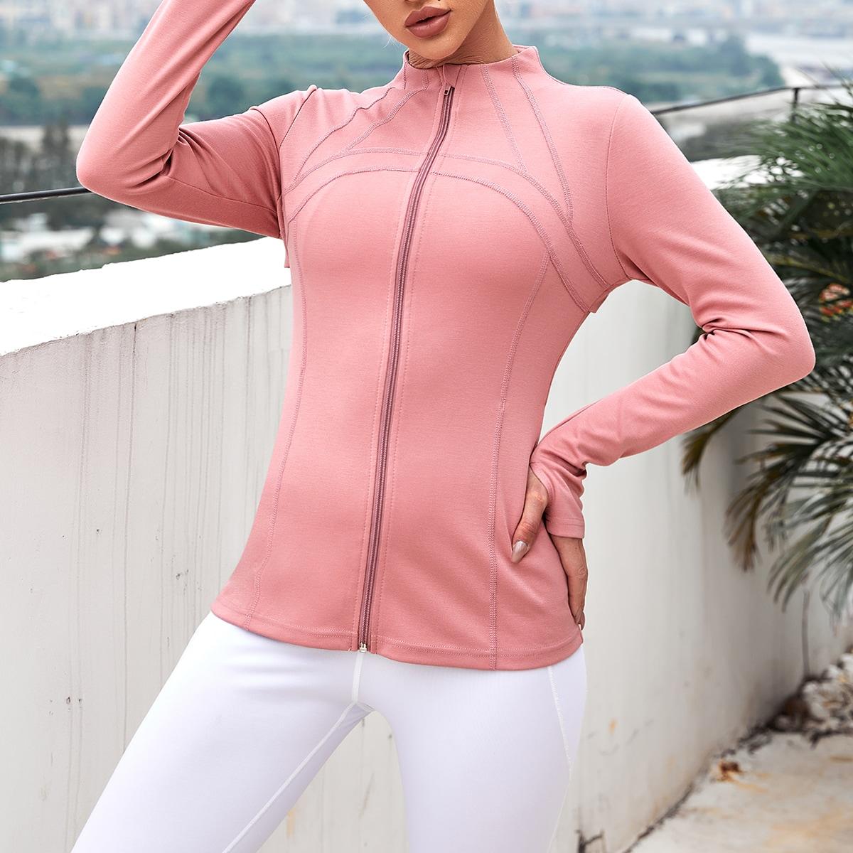 На молнии одноцветный спортивные куртки