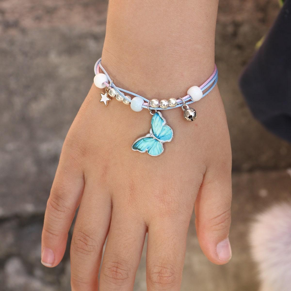 Braccialetto di fascino della farfalla da ragazze