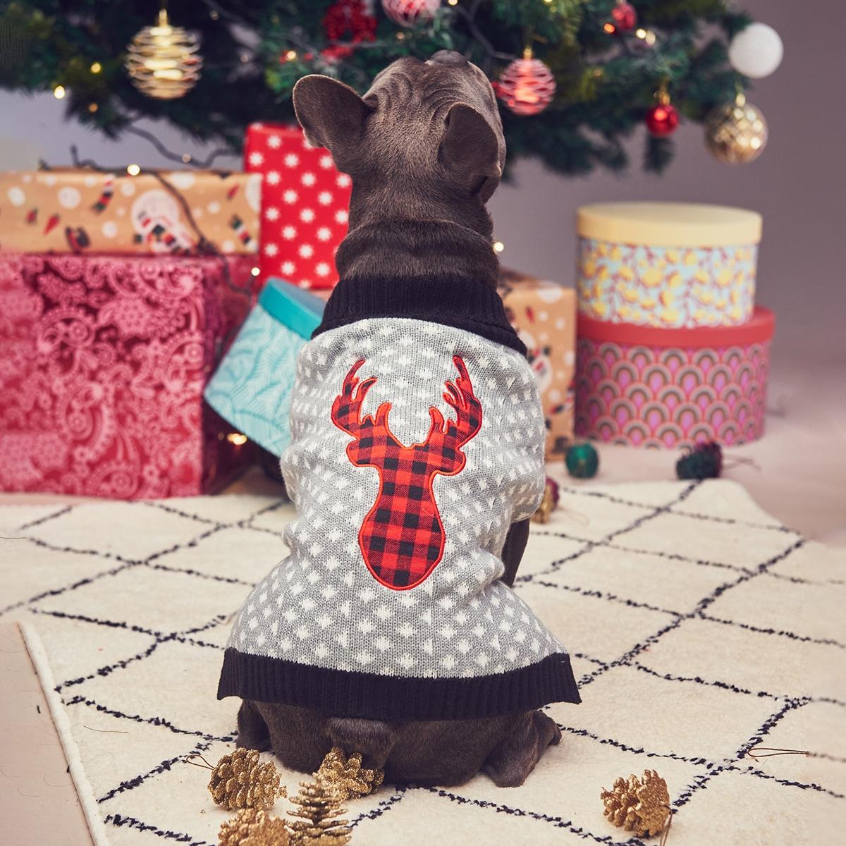 Weihnachten Pullover mit Hirsch Muster